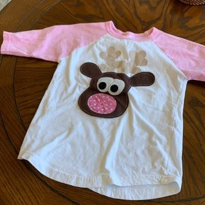 Patches & puppies boutique kids rudolf baseball T-